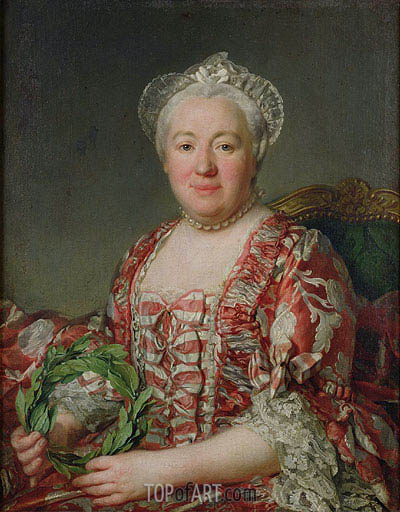 Portrait of Madame Denis, Undated | Joseph-Siffred Duplessis | Gemälde Reproduktion