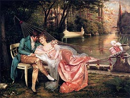 Flirtation | Soulacroix | Painting Reproduction