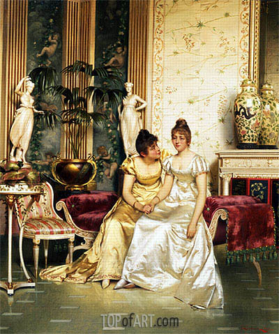 A Shared Confidence, Undated | Soulacroix | Painting Reproduction