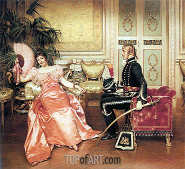 Flirtation, Undated | Soulacroix | Painting Reproduction