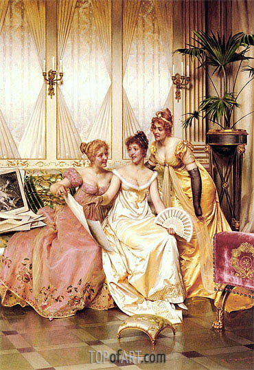 The Three Connoisseurs, Undated | Soulacroix | Painting Reproduction