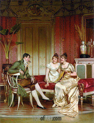 The Afternoon Visitor, Undated | Soulacroix | Painting Reproduction