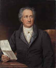Portrait of Johann Wolfgang von Goethe, 1828 by Joseph Karl Stieler | Painting Reproduction