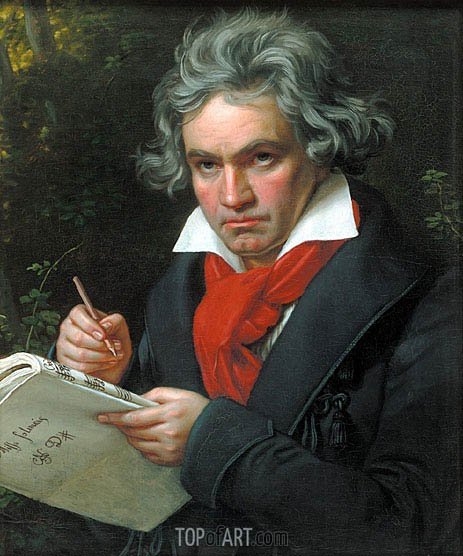 Portrait of Beethoven, 1820 | Joseph Karl Stieler | Painting Reproduction