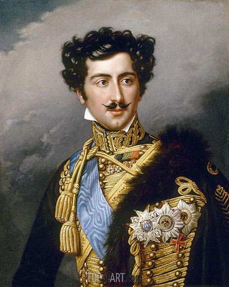 Portrait of King Oskar of Sweden as Crown Prince, undated | Joseph Karl Stieler | Painting Reproduction