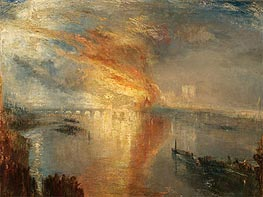 The Burning of the Houses of Lords and Commons, 16 October 1834, 1835 von J. M. W. Turner | Gemälde-Reproduktion