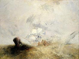 The Whale Ship, c.1845 von J. M. W. Turner | Gemälde-Reproduktion