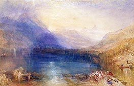 The Lake of Zug, 1843 von J. M. W. Turner | Gemälde-Reproduktion