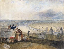 View of London from Greenwich, 1825 von J. M. W. Turner | Gemälde-Reproduktion