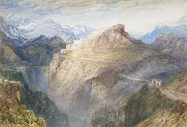 Fort of L'Essillon, Val de la Maurienne, France, 1836 von J. M. W. Turner | Gemälde-Reproduktion