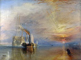 The Fighting Temeraire, 1839 von J. M. W. Turner | Gemälde-Reproduktion