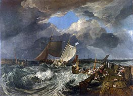 Calais Pier with French Poissards Preparing for Sea: an English Packet Arriving | J. M. W. Turner | Painting Reproduction