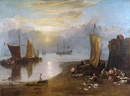 Sun Rising through Vapour: Fishermen Cleaning and Selling Fish | J. M. W. Turner | Painting Reproduction