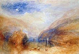 The Lauerzer See with the Mythens (Lake of Brienz), c.1845/50 von J. M. W. Turner | Gemälde-Reproduktion