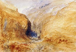 Mountainous Landscape (A Swiss Pass) | J. M. W. Turner | Painting Reproduction