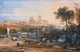 Lincoln Cathedral from the Holmes, Brayford, c.1802/03 by J. M. W. Turner | Painting Reproduction
