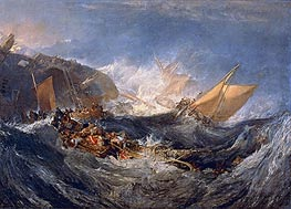 The Wreck of a Transport Ship, c.1810 by J. M. W. Turner | Painting Reproduction