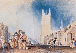 Stamford, Lincolnshire, c.1828 by J. M. W. Turner | Painting Reproduction