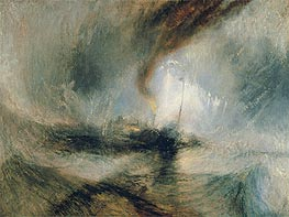 Snow Storm - Steam-Boat off a Harbour's Mouth, 1842 by J. M. W. Turner | Painting Reproduction