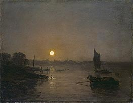 Moonlight (Study at Millbank), 1797 by J. M. W. Turner | Painting Reproduction