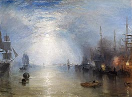 Keelmen Heaving in Coals by Moonlight, 1835 by J. M. W. Turner | Painting Reproduction