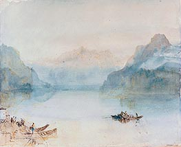 Lake Lucerne: The Bay of Uri from Brunnen, c.1841/42 by J. M. W. Turner | Painting Reproduction