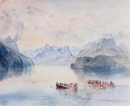 The Bay of Uri on Lake Lucerne from Brunnen, c.1841/42 by J. M. W. Turner | Painting Reproduction
