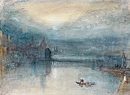 Lucerne by Moonlight, c.1842/43 by J. M. W. Turner | Painting Reproduction