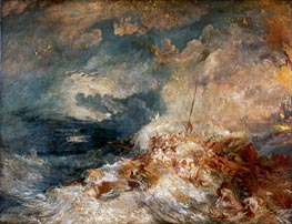 A Disaster at Sea, c.1835 by J. M. W. Turner | Painting Reproduction