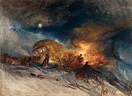 Messieurs les Voyageurs on their Return from Italy in a Snow Drift upon Mount Tarrar, 1829 by J. M. W. Turner | Painting Reproduction