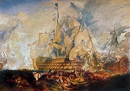 Battle of Trafalgar, 21 October 1805 | J. M. W. Turner | Painting Reproduction