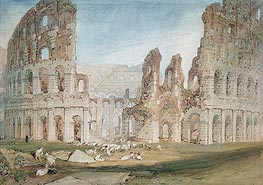 Colosseum in Rome, undated by J. M. W. Turner | Painting Reproduction