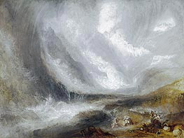 Valley of Aosta: Snowstorm, Avalanche and Thunderstorm, c.1836/37 by J. M. W. Turner | Painting Reproduction