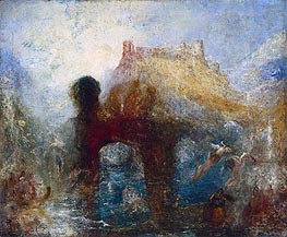 Queen Mab's Cave, a.1846 by J. M. W. Turner | Painting Reproduction