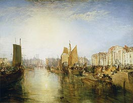 The Harbor of Dieppe, 1826 by J. M. W. Turner | Painting Reproduction