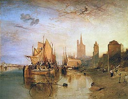 Cologne: The Arrival of a Packet-Boat: Evening, 1826 by J. M. W. Turner | Painting Reproduction