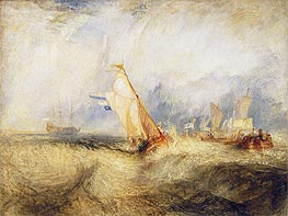 Van Tromp, Going About to Please His Masters, 1844 by J. M. W. Turner | Painting Reproduction