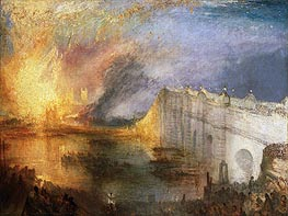 The Burning of the Houses of Lords and Commons, October 16, 1834 | J. M. W. Turner | Painting Reproduction