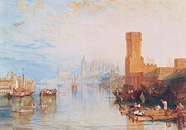 Cologne from the River, 1820 by J. M. W. Turner | Painting Reproduction