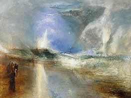 Rockets and Blue Lights (Close at Hand)   to Warn Steamboats of Shoal Water | J. M. W. Turner | Painting Reproduction