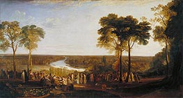 England: Richmond Hill on the Prince Regent's Birthday | J. M. W. Turner | Gemälde Reproduktion