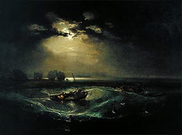 Fishermen at Sea, 1796 by J. M. W. Turner | Painting Reproduction
