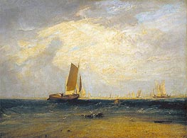 Fishing upon the Blythe-Sand, Tide Setting In, 1809 by J. M. W. Turner | Painting Reproduction