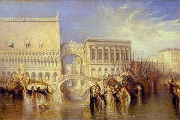 Venice, the Bridge of Sighs | J. M. W. Turner | Gemälde Reproduktion