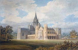 Perspective View of Fonthill Abbey from the South-West | J. M. W. Turner | Gemälde Reproduktion