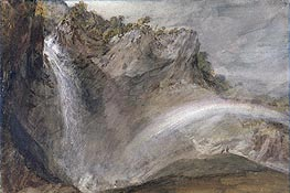 Upper Falls of the Reichenbach | J. M. W. Turner | Painting Reproduction
