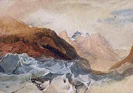 Mer de Glace, Chamonix with Blair's Hut | J. M. W. Turner | Painting Reproduction