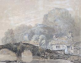 Cottage by a Bridge (Beddgelert Bridge, North Wales) | J. M. W. Turner | Painting Reproduction