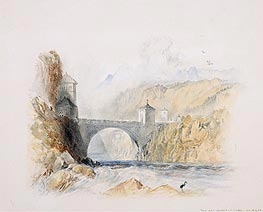 Landscape with Bridge | J. M. W. Turner | Painting Reproduction