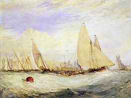 East Cowes Castle, the Seat of J. Nash, Esq., the Regatta Beating to Windward | J. M. W. Turner | Painting Reproduction